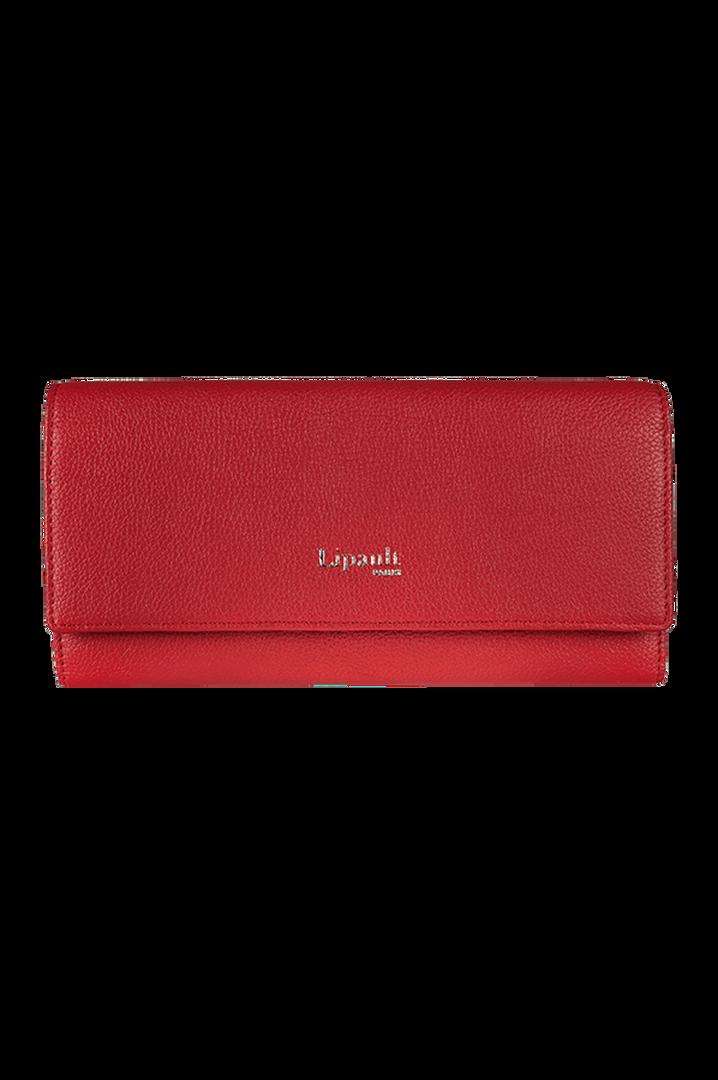 Plume Elegance Portefeuille Rouge   1