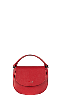 Lipault Plume Elegance Saddle Bag  Ruby